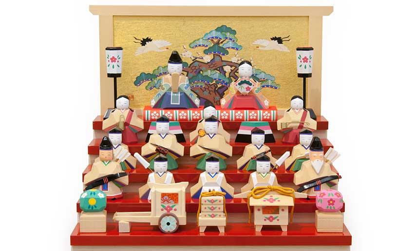 南雲ひな人形「福寿」お輿入れお道具をセットできます