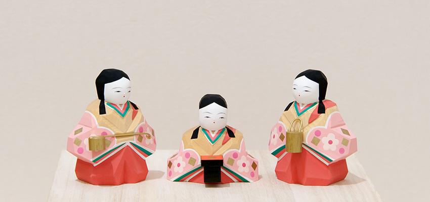 雛人形 さくら雛十五人飾り(小)三人官女
