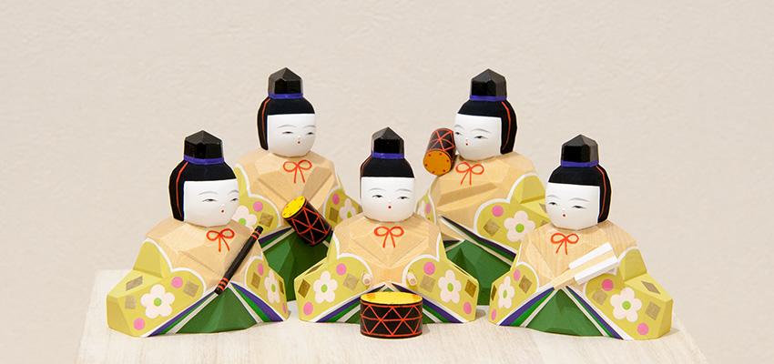 雛人形 さくら雛十五人飾り(小)五人囃子