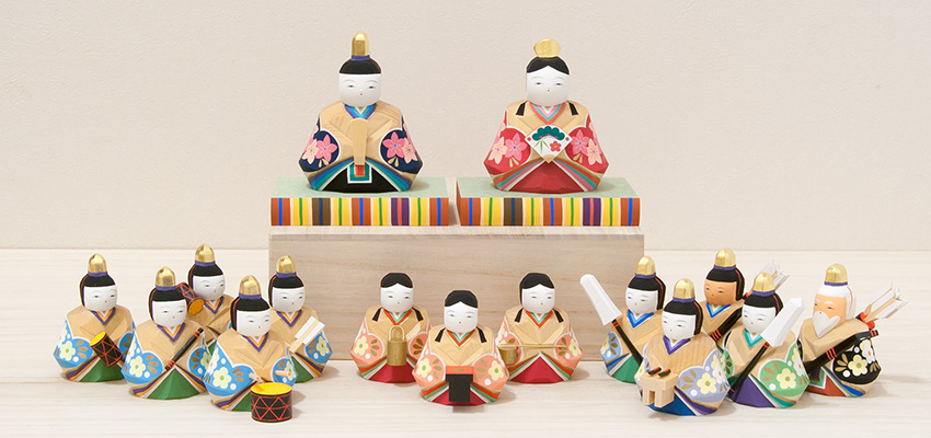 雛人形 春菜雛(小)お人形15体