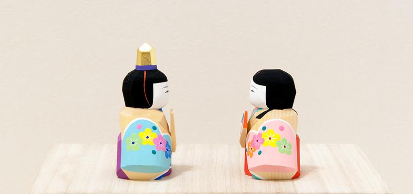 南雲 ひな人形 段飾り 伊予比奈 春風(内裏雛の側面)