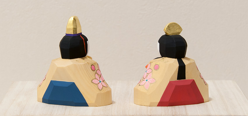 南雲 ひな人形 段飾り 春舞台(内裏雛の背面)