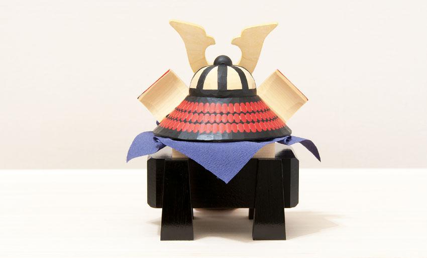 南雲 兜飾り 新生 皐月組(小)兜の背面