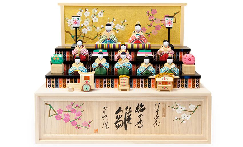 南雲限定ひな人形 梅の香雛(十人飾り)お輿入れ道具セットイメージ
