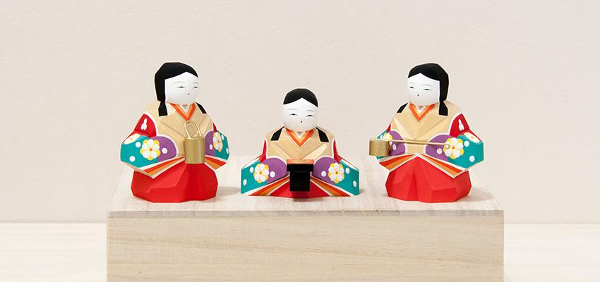 雛人形「明莉(あかり)」十五人飾り(三人官女)