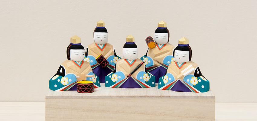 雛人形「明莉(あかり)」十五人飾り(五人囃子)