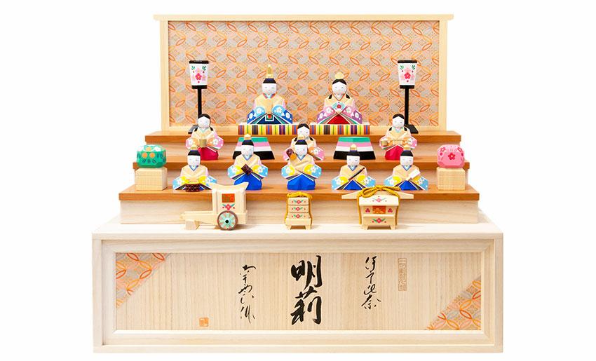 南雲限定ひな人形「明莉」10人飾り・お輿入れ道具セットイメージ